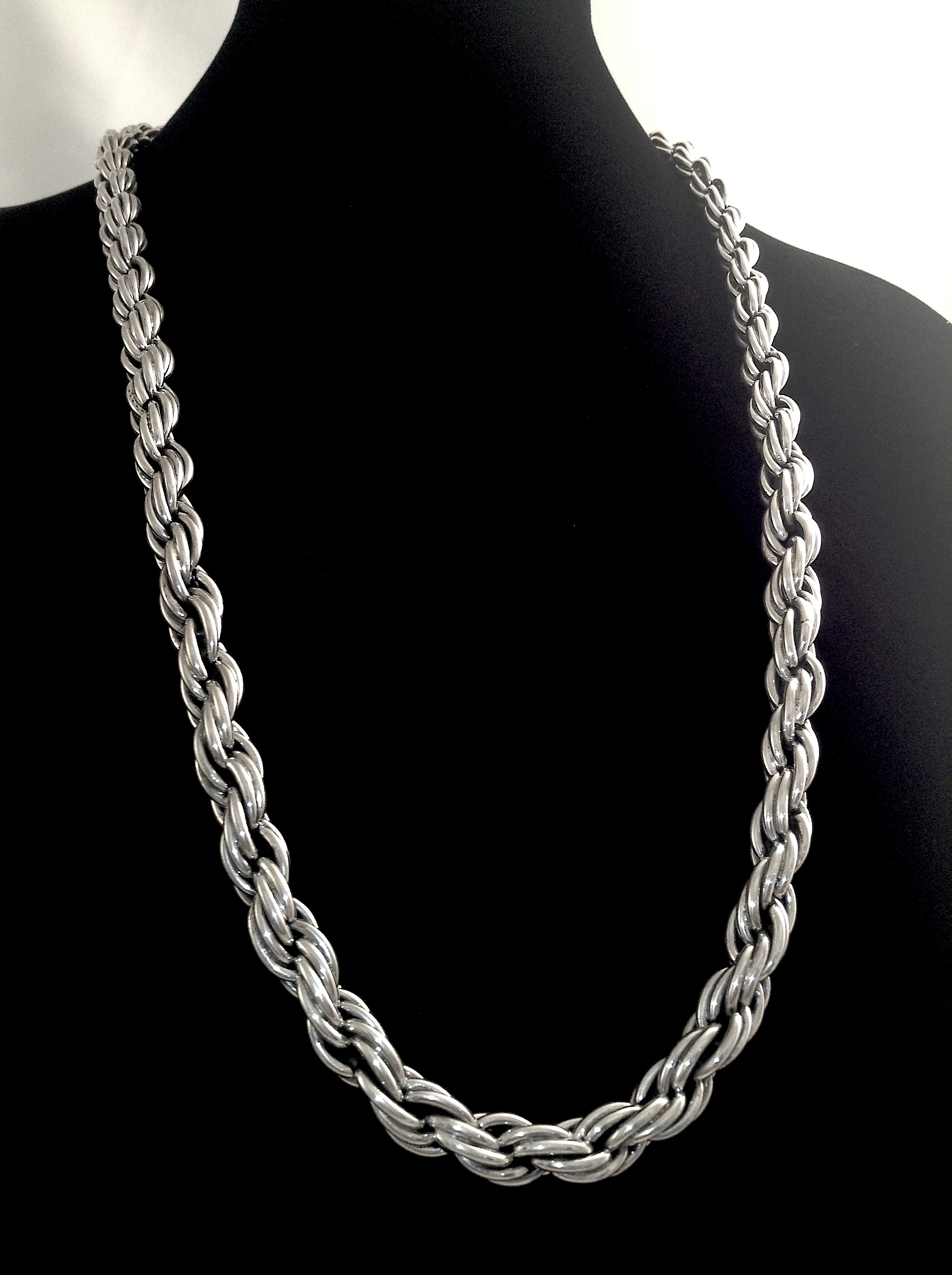 rope chain diamond solid chains sterling silver jewellery drop unisex cut