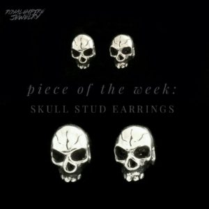 Skull Stud Earrings Royal Empire Jewelry
